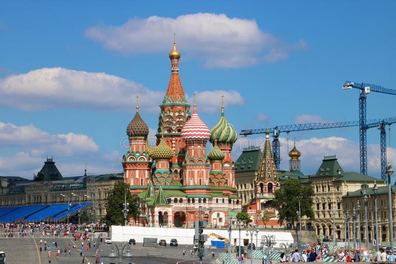 Saint Basil`s Cathedral, Moscow stock photos