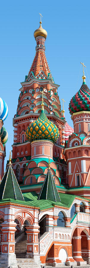 The Cathedral of Vasily Red Square Moscow royalty free stock image