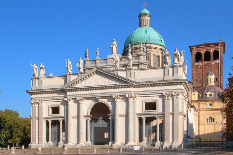 Cathedral of Vercelli in italy royalty free stock photo