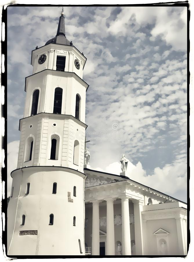 The Cathedral of Vilnius. In summer