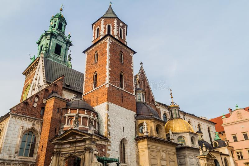 Cathedral at Wawel castle in Krakow, Pola stock photo