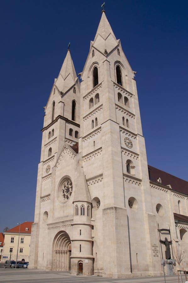 Cathedral in Wiener Neustadt Austria. Late romanesque cathedral in Wiener Neustadt Austria stock photos