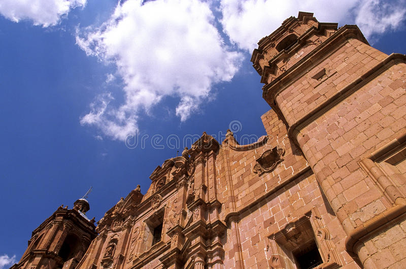 Cathedral- Zacatecas, Mexico stock images