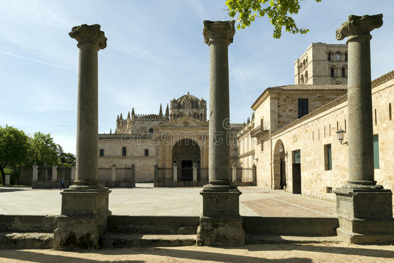 Cathedral of Zamora, Spain.  royalty free stock image