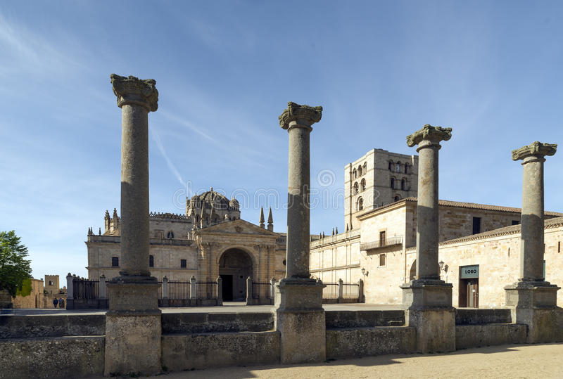 Cathedral of Zamora, Spain.  stock images