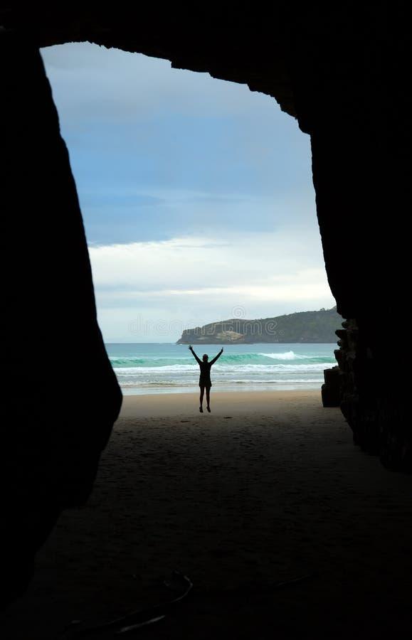 Cathedrale小海湾在新西兰 图库摄影