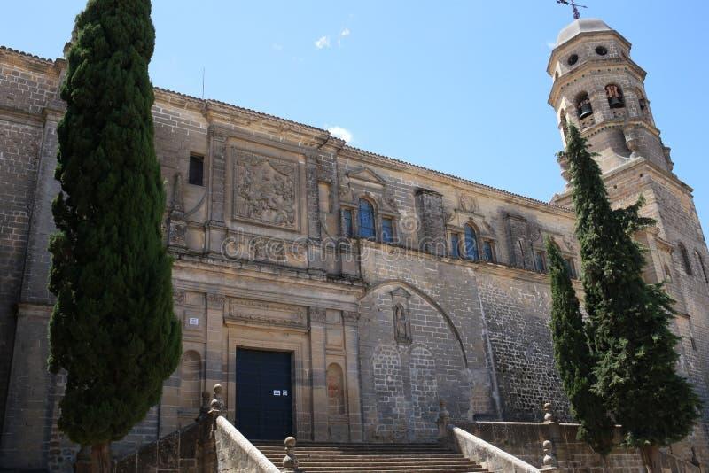Cathedrale av Baeza, Andalusian, Spanien fotografering för bildbyråer