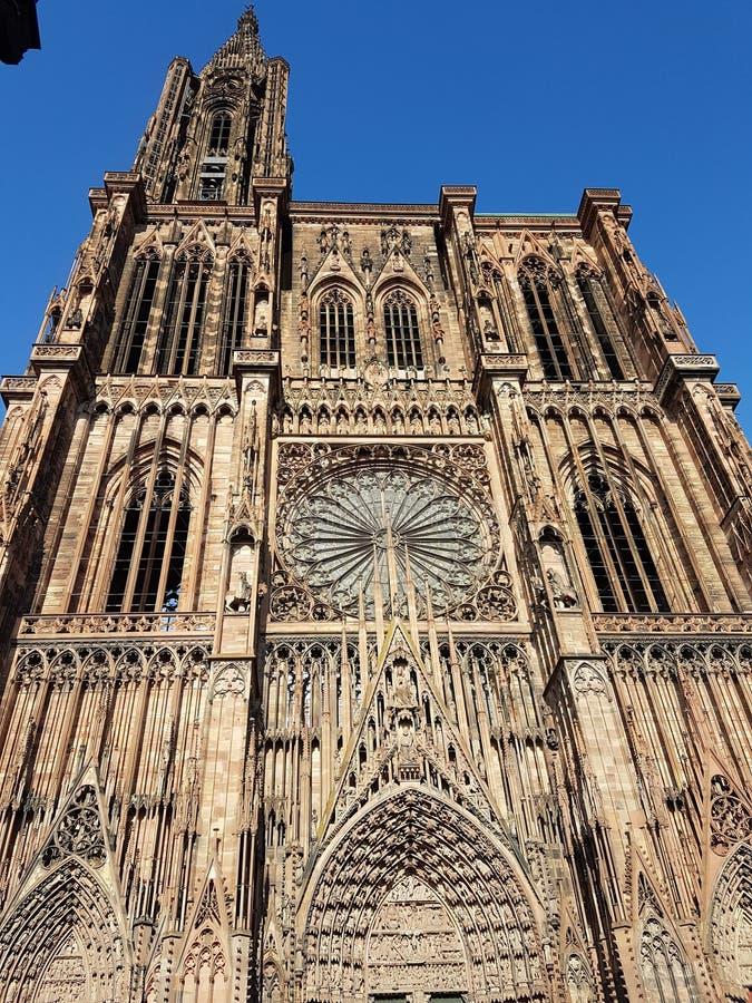 Cathedrale av Strasbourg fotografering för bildbyråer