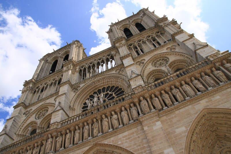 cathedrale dame de notre paris royaltyfri bild
