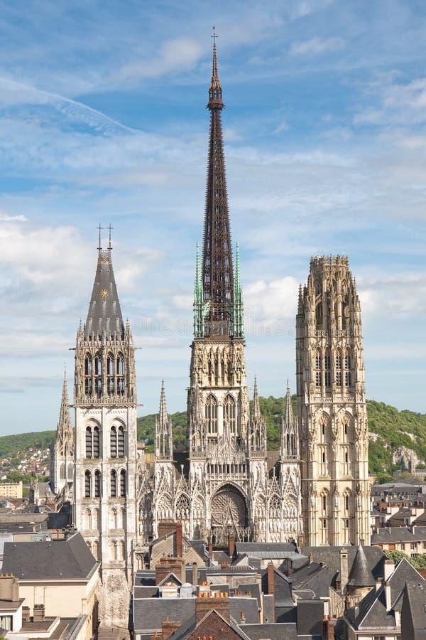 Cathedrale de Rouen - la France images libres de droits