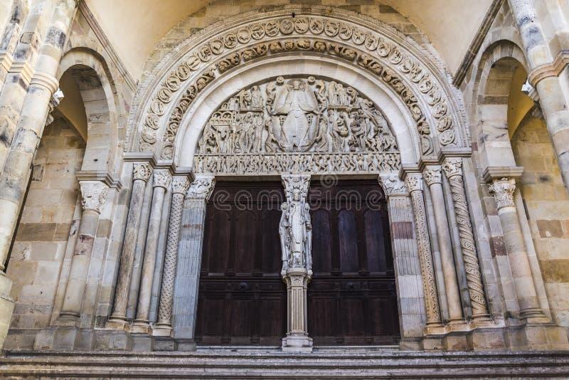 Cathedrale heilige-Lazare, Autun, Frankrijk stock fotografie