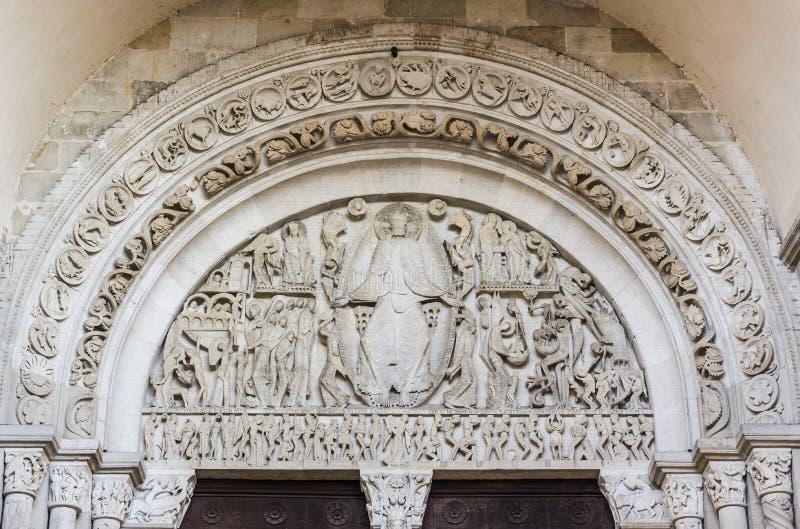 Cathedrale heilige-Lazare, Autun, Frankrijk royalty-vrije stock afbeeldingen