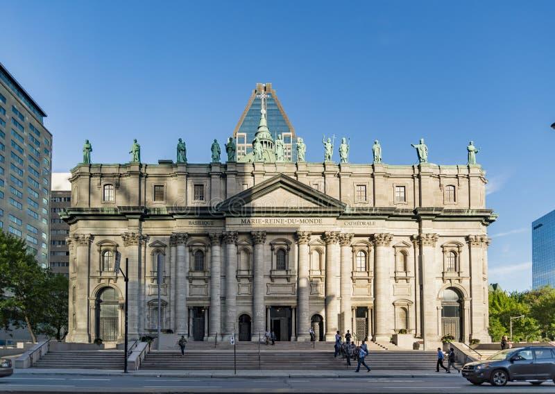Cathedrale Marie Reine du Monde à Montréal, Québec photos stock