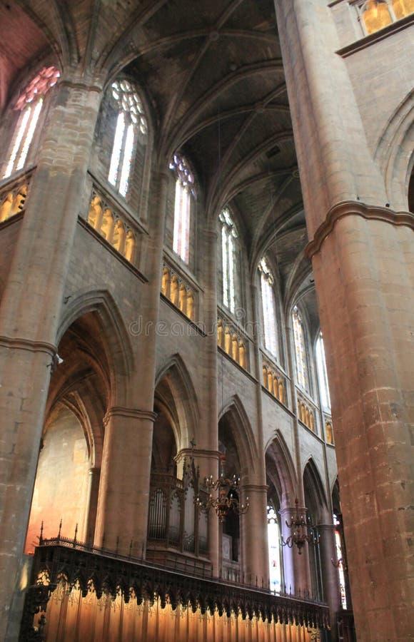 Cathedrale Notre-Dame-de-lÂ'Assomption, Rodez (Frankrike) arkivbild