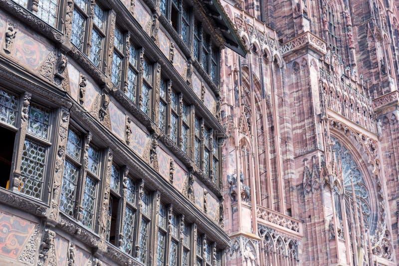 Download Cathedrale Notre-Dame De Strasbourg, France Image stock - Image du monumental, construction: 56477059