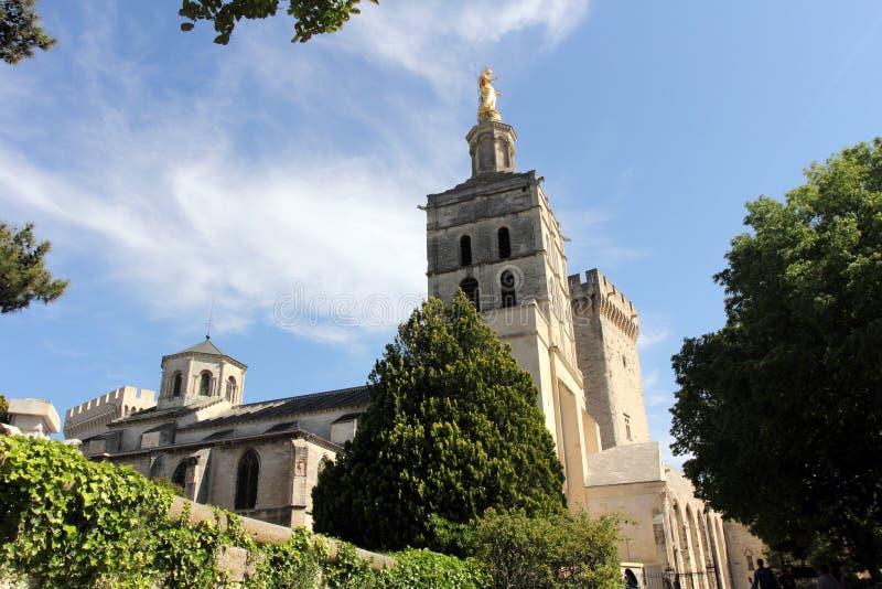 Cathedrale Notre-Dame des Doms d'Avignon, Γαλλία στοκ φωτογραφία με δικαίωμα ελεύθερης χρήσης