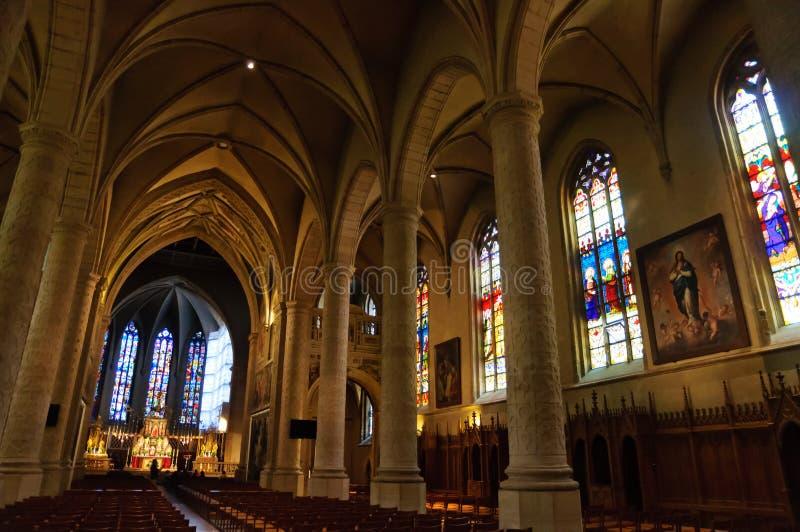 Cathedrale Notre-Dame i staden av Luxembourg fotografering för bildbyråer