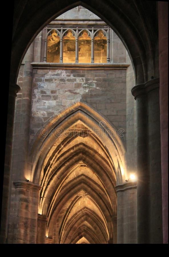 Cathedrale Notre-Dame, Rodez (Frances) images stock