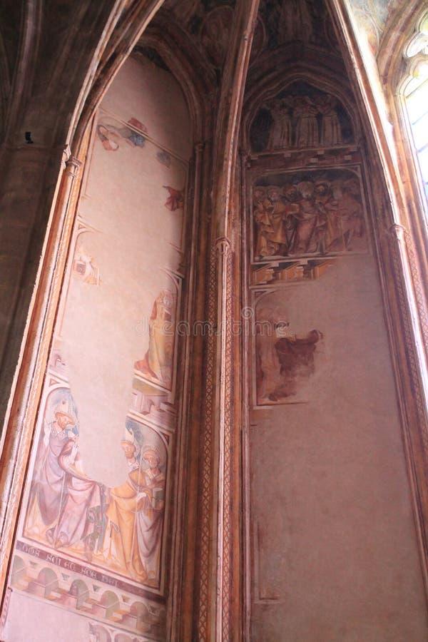 Cathedrale Notre-Dame, Rodez (Frankreich) lizenzfreie stockfotografie