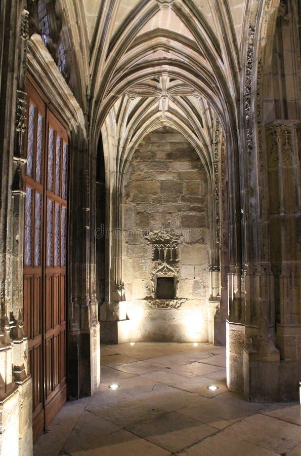 Cathedrale Notre-Dame, Rodez (Frankrike) arkivfoton