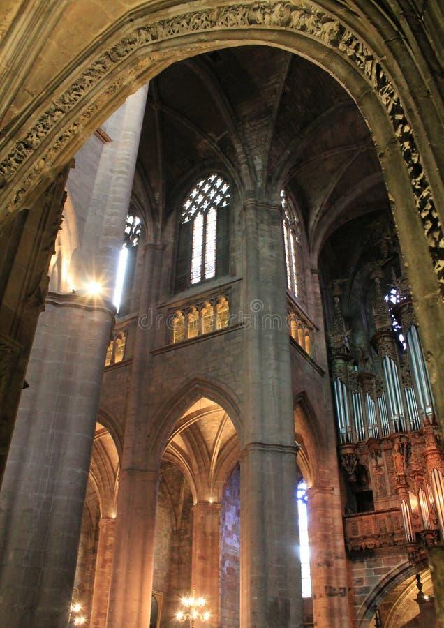 Cathedrale Notre-Dame, Rodez (Frankrike) arkivbild