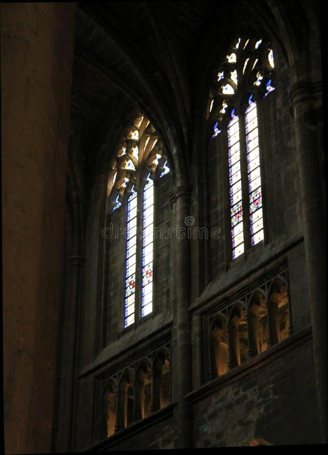 Cathedrale Notre-Dame, Rodez (Frankrike) royaltyfri foto