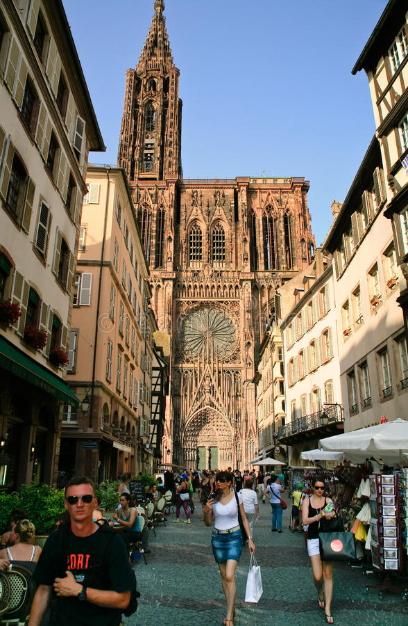 Cathedrale Notre Dame a Strasburgo immagine stock