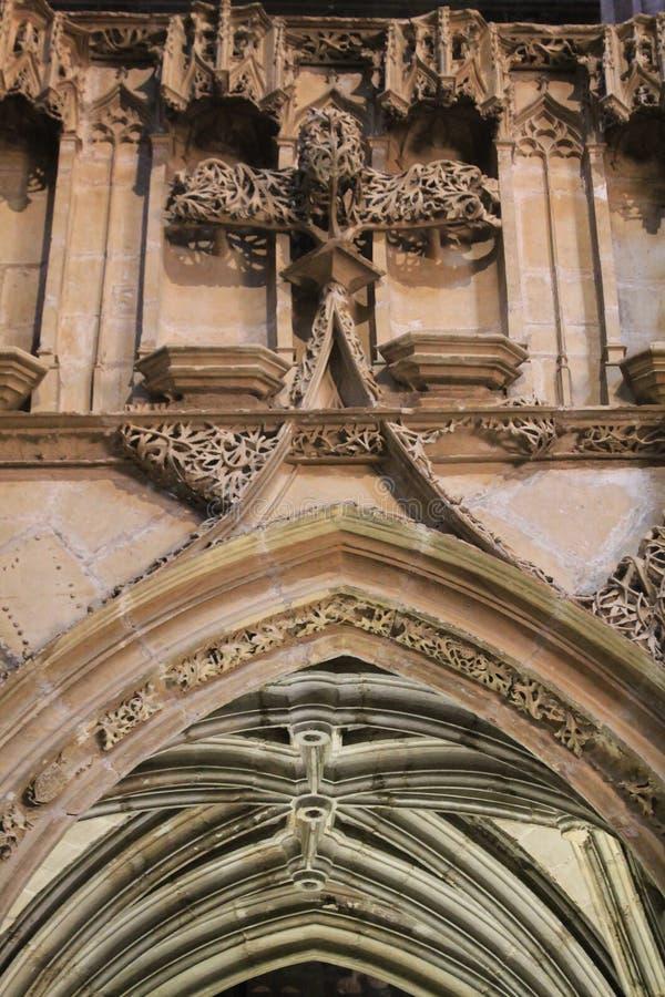 Cathedrale Notre-Freifrau-De-lÂ'Assomption, Rodez (Frankreich) stockbild