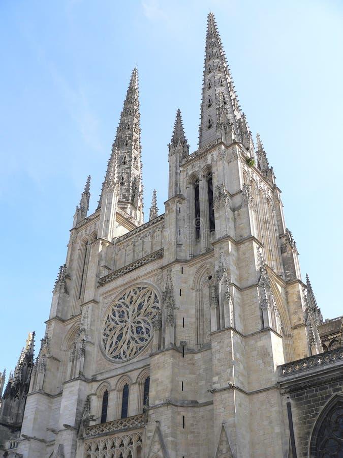 Cathedrale saint-Andre, Bordeaux (Frankrike) royaltyfri bild