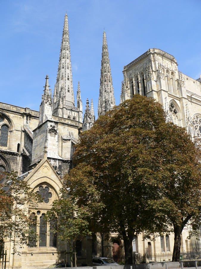 Cathedrale Sanktt-Andre, Bordeaux (Frankrike) royaltyfri fotografi