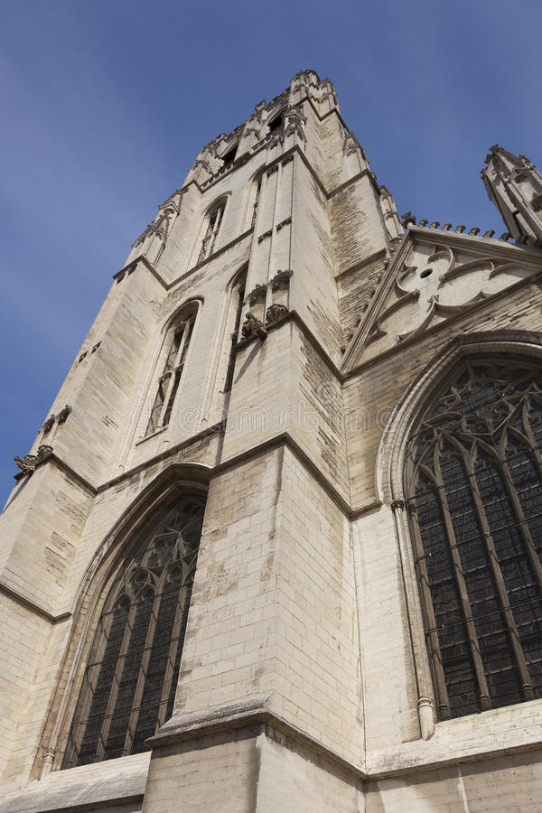 Cathedrale Sts Michel et Gudule, Brussels. Belgium stock photography
