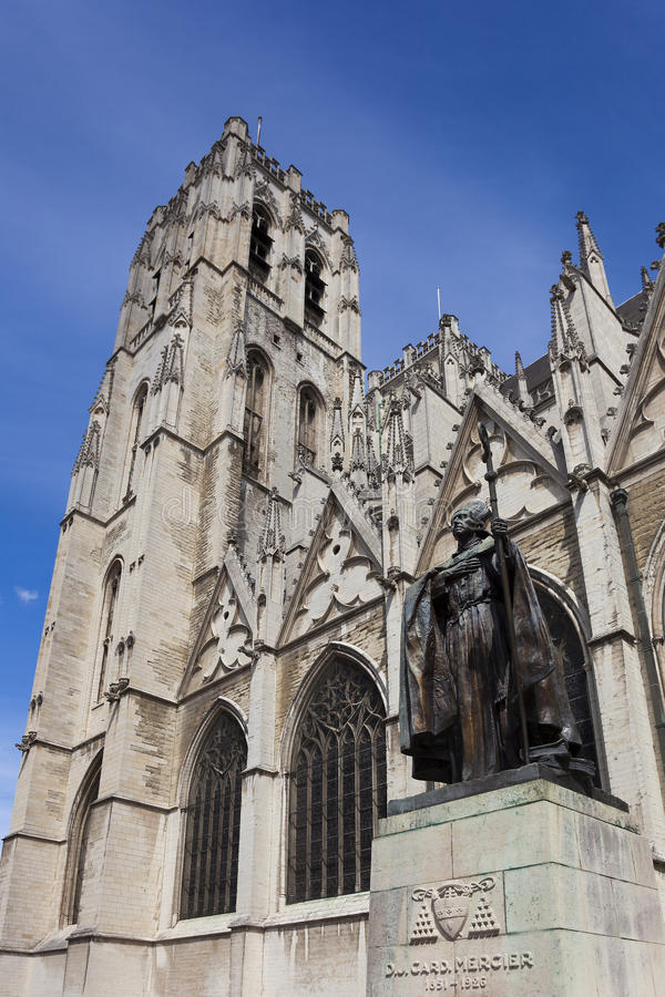 Cathedrale Sts Michel et Gudule, Brussels. Belgium royalty free stock images