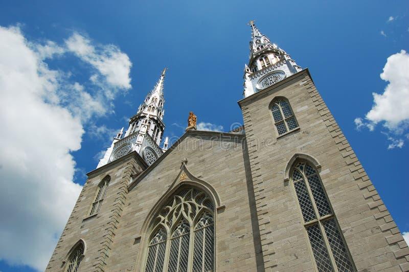 cathedraledamenotre ottawa royaltyfri foto