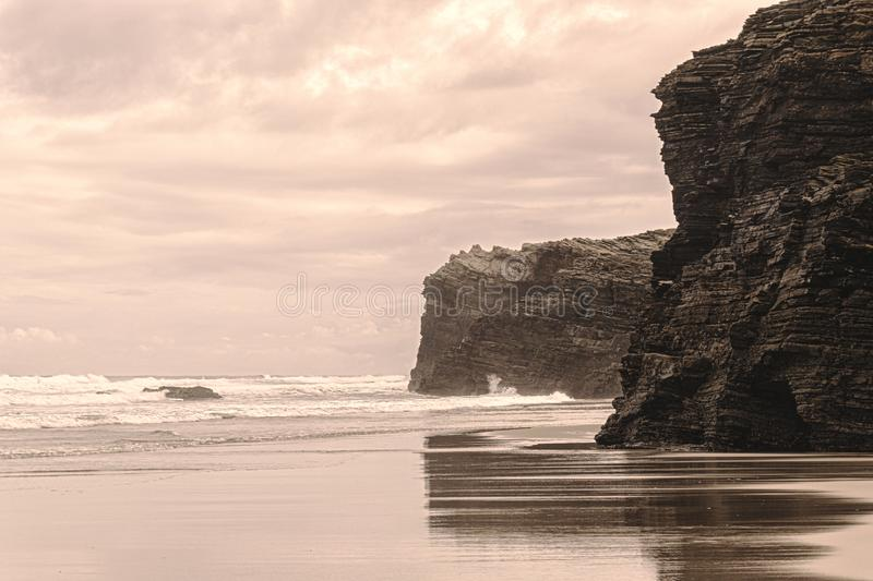 Cathedrals Beach, Galicien, Spanien lizenzfreies stockfoto