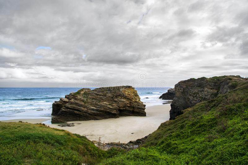 Cathedrals beach, Galicia, Spain royalty free stock photo