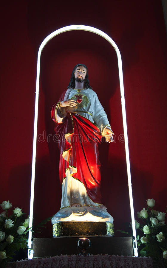 catherdral άγαλμα Βιετνάμ κυρίας Χρ στοκ εικόνες