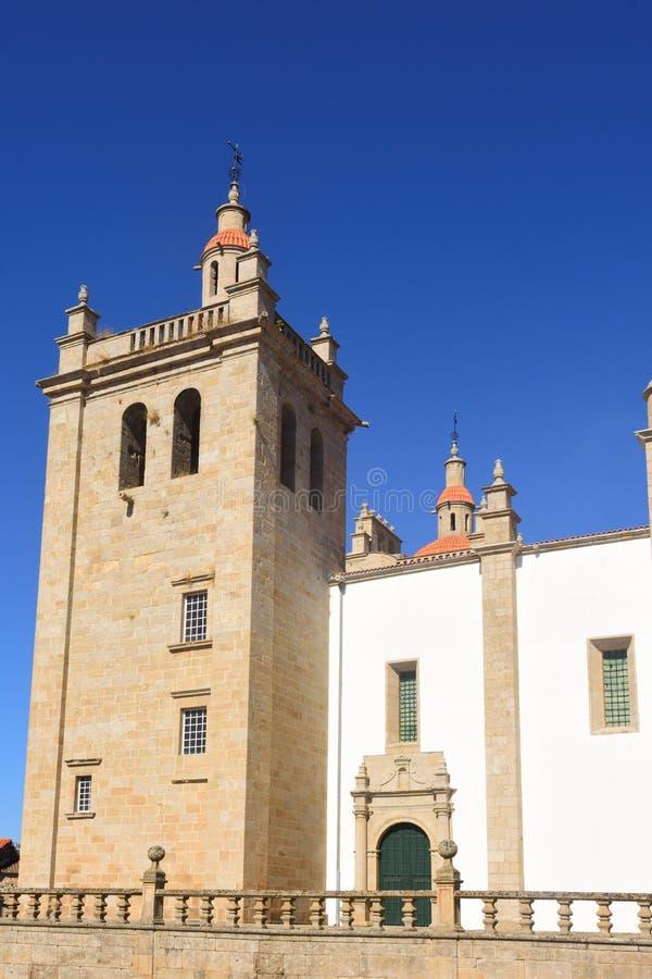 Catherdral de Miranda font Douro, Portugal images stock