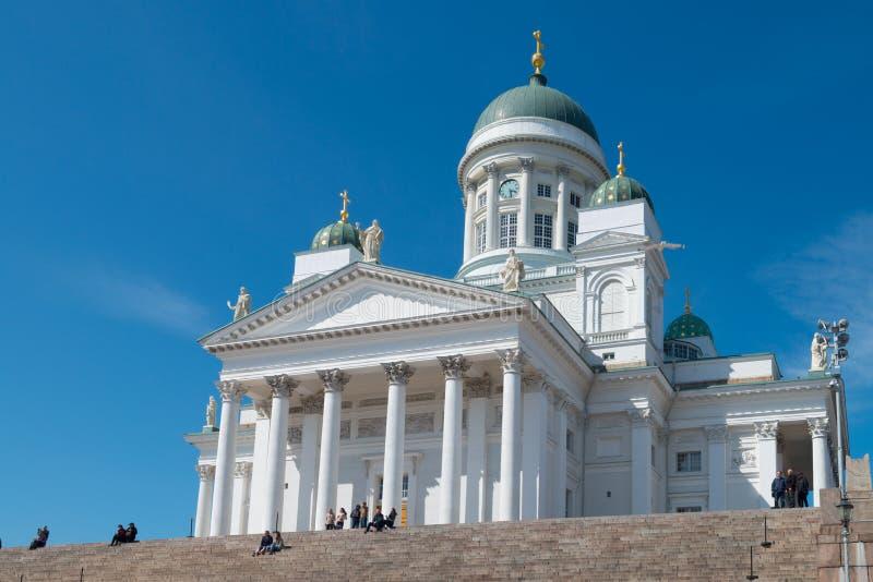 Catherdral in Helsinki in Finnland lizenzfreie stockfotos