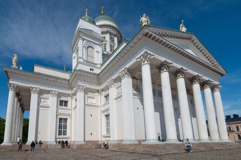 Catherdral i Helsingfors i Finland royaltyfri foto