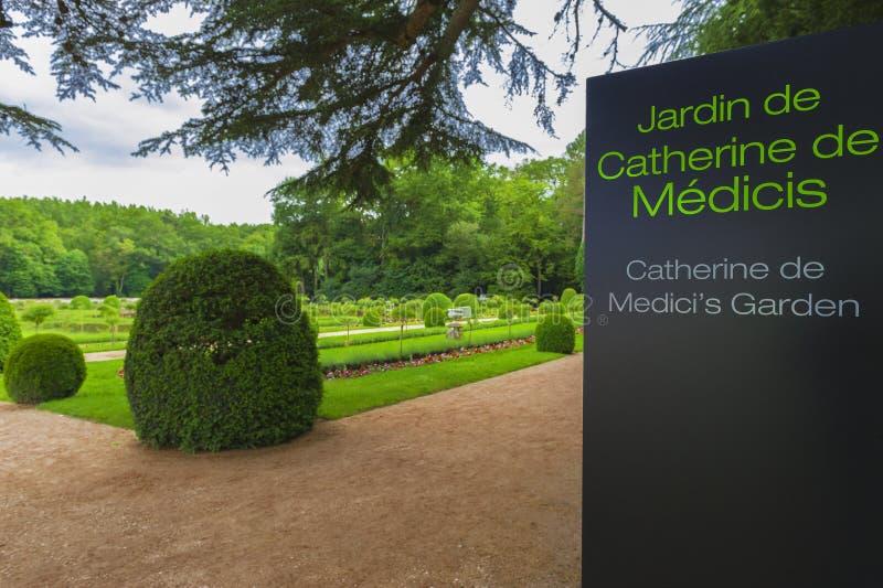 Catherine de Medici Garden imagens de stock