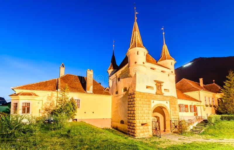 Catherine Gate, Brasov, Roemenië royalty-vrije stock afbeelding