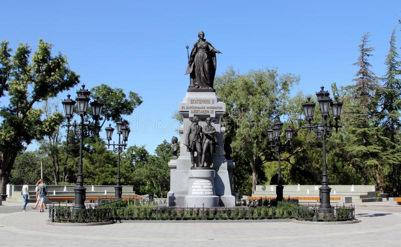 Catherine the Great monument in Simferopol royalty free stock photography