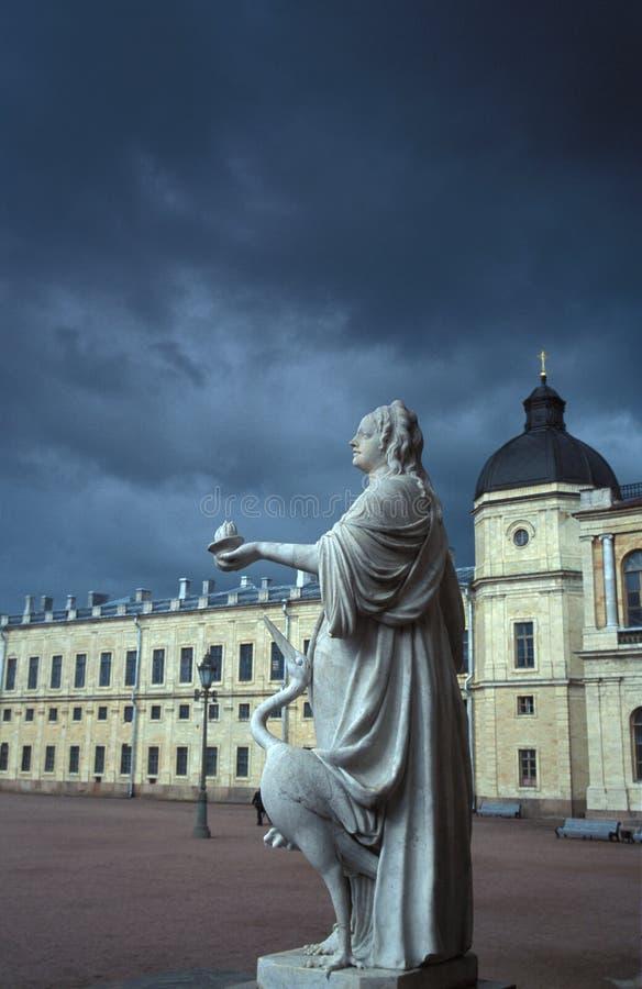 Catherine het Grote monument stock afbeelding