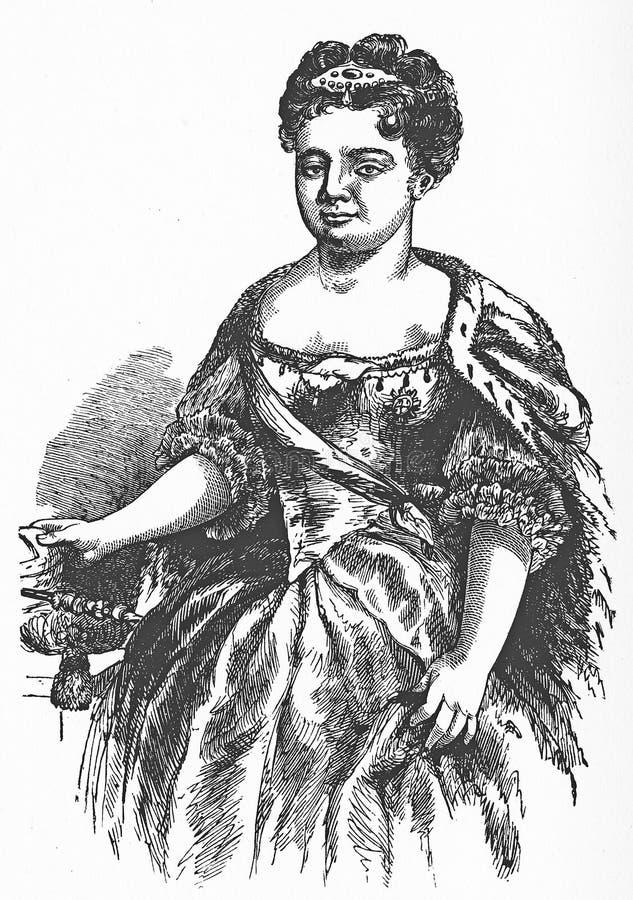 Catherine I, imperatrice della Russia royalty illustrazione gratis