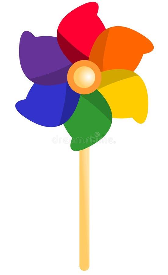 Catherine koło, pinwheel, wiatraczek ilustracja wektor
