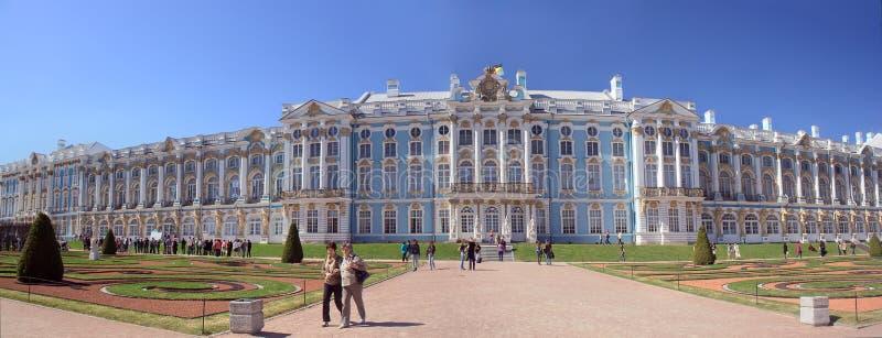 Catherine pałac w Tsarskoye Selo, Pererburg zdjęcie royalty free