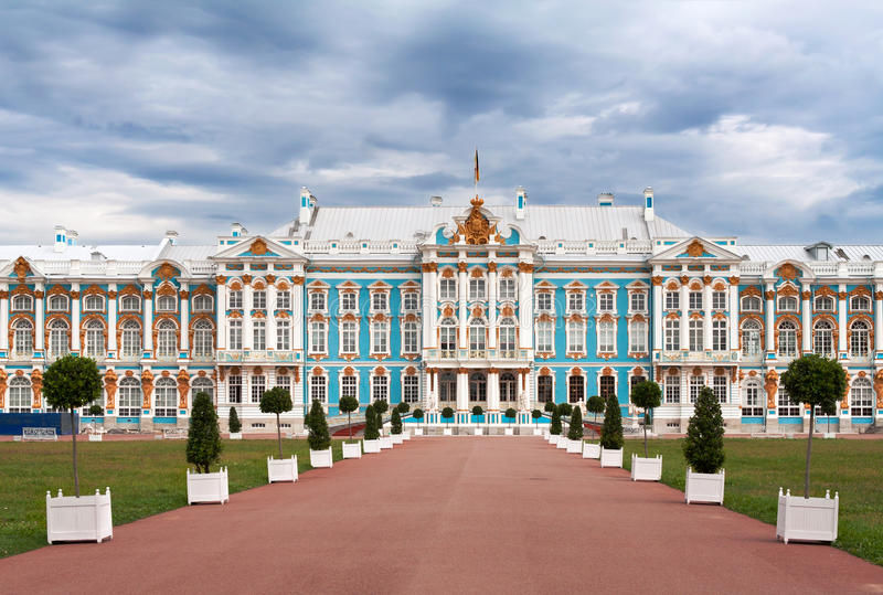 Catherine Palace stock afbeelding