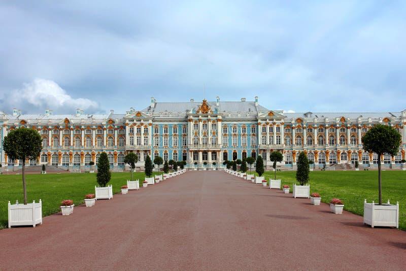 Catherine Palace dichtbij Heilige Petersburg, Rusland royalty-vrije stock foto