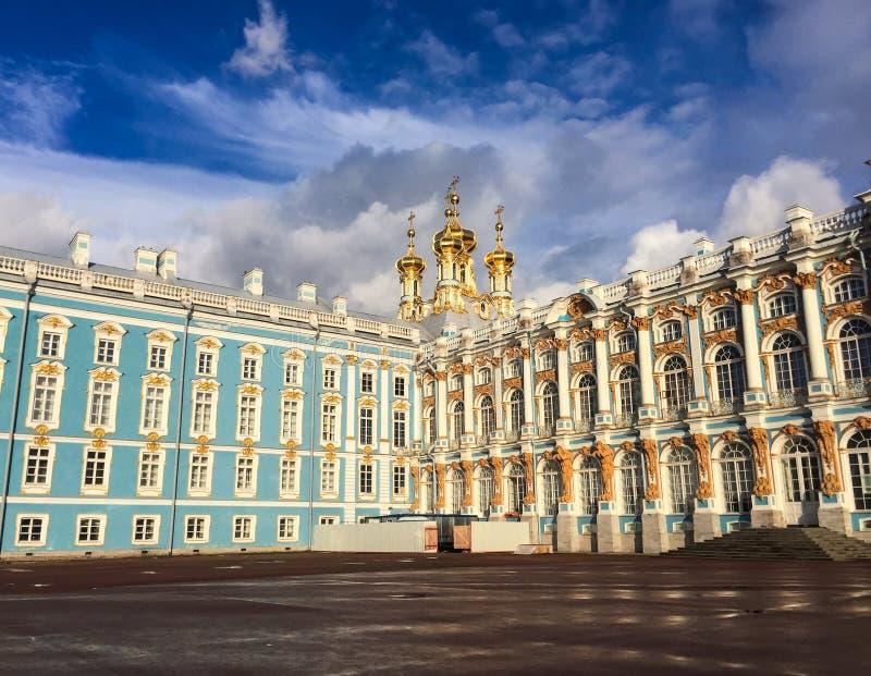 Catherine Palace em Pushkin, Rússia imagens de stock royalty free