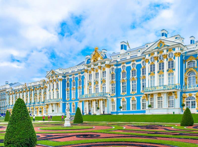Catherine Palace em Tsarskoe Selo fotografia de stock royalty free